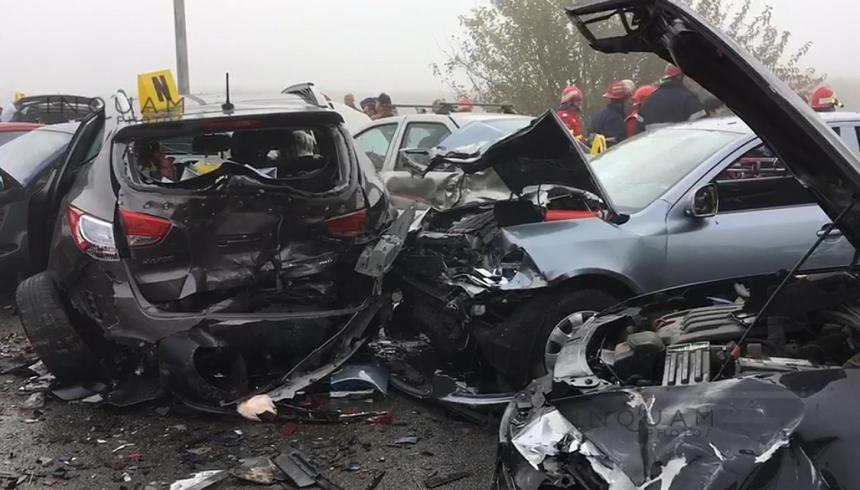 Bilanţul accidentului de pe A2 a ajuns la 4 morţi și 56 de persoane rănite FOTO/VIDEO