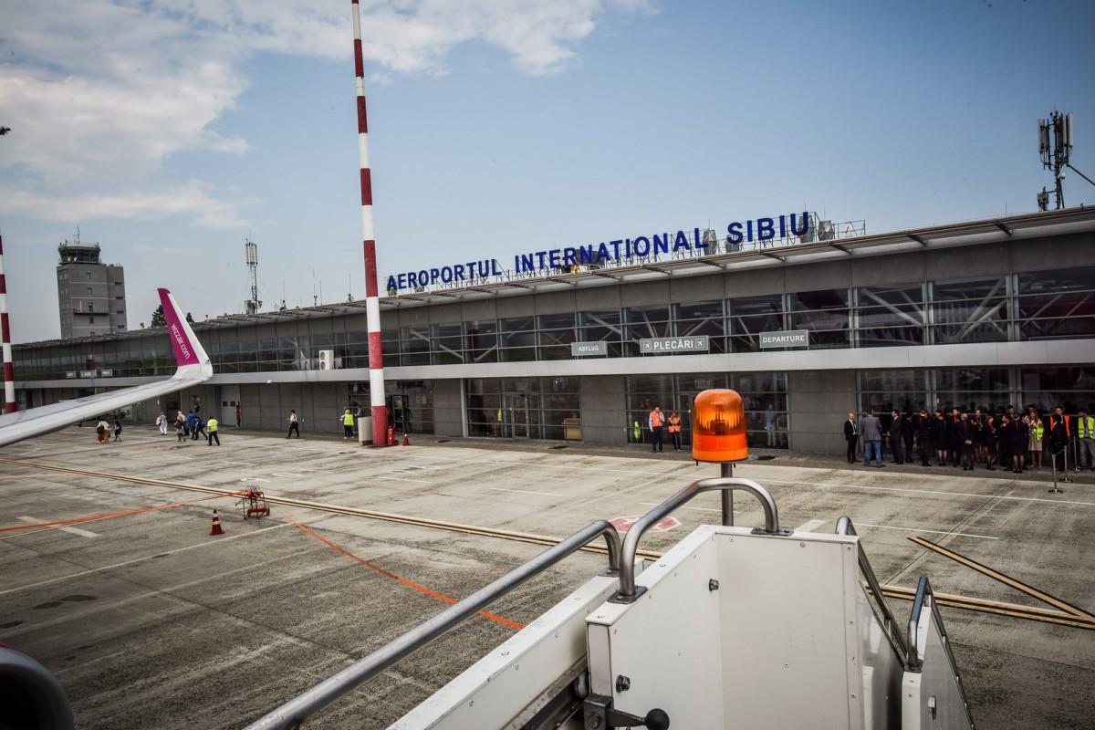 Traficul pe Aeroportul Sibiu a crescut cu peste 60% în primele trei luni ale anului 2017