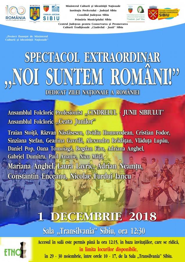 """""""Noi suntem români!"""": Spectacolul extraordinar pregătit de Junii pentru toţi românii (CP)"""