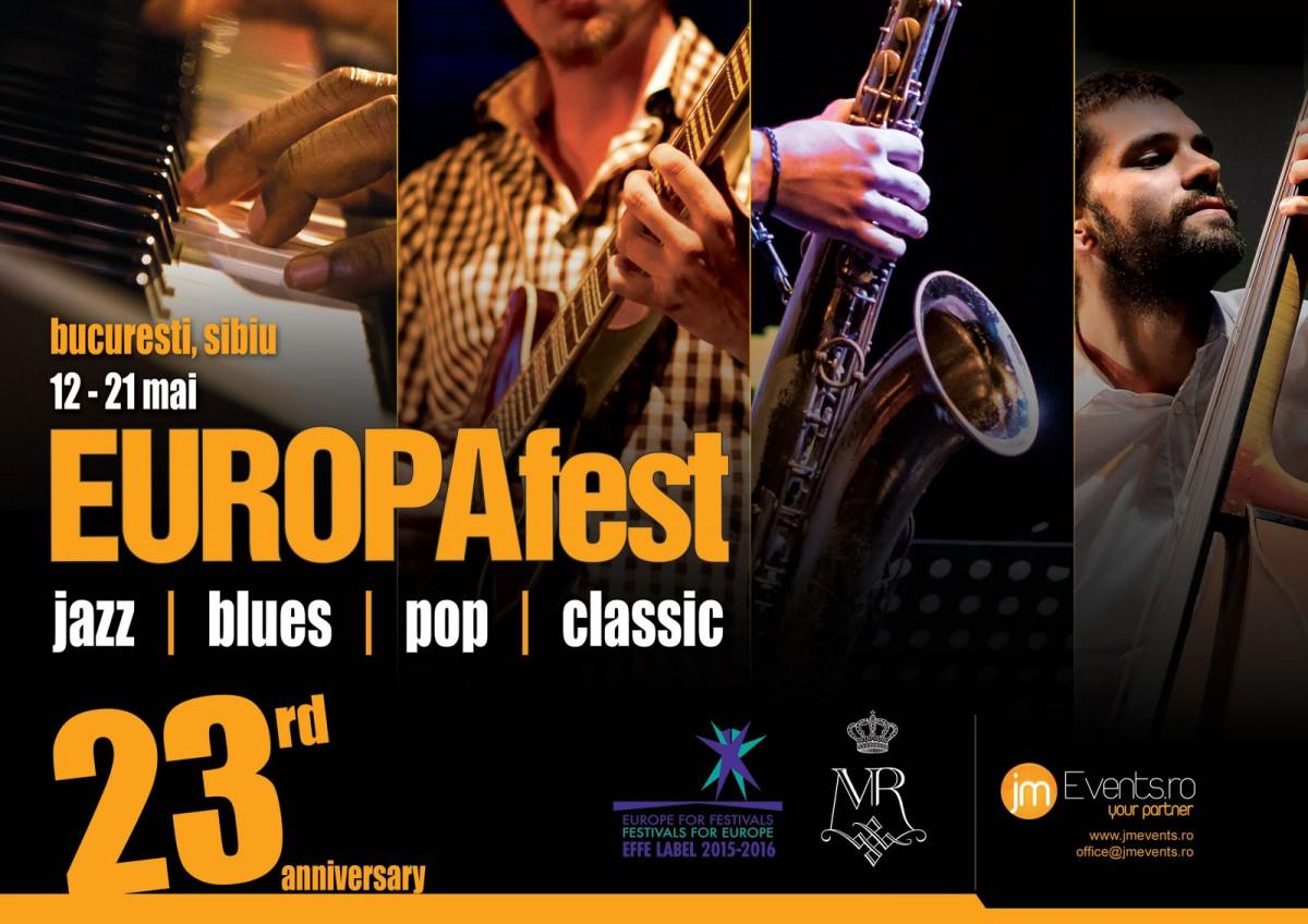 EUROPAfest 2016. 10 zile de jazz, blues, pop şi clasic