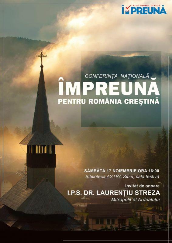 """La Sibiu se creează o mişcare civică """"de apărare a valorilor civilizaţiei creştine europene şi naţionale"""""""