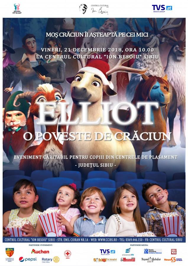 Cinema 2DElliot: O poveste de Crăciun - O inițiativă caritabilă, parte din proiectul