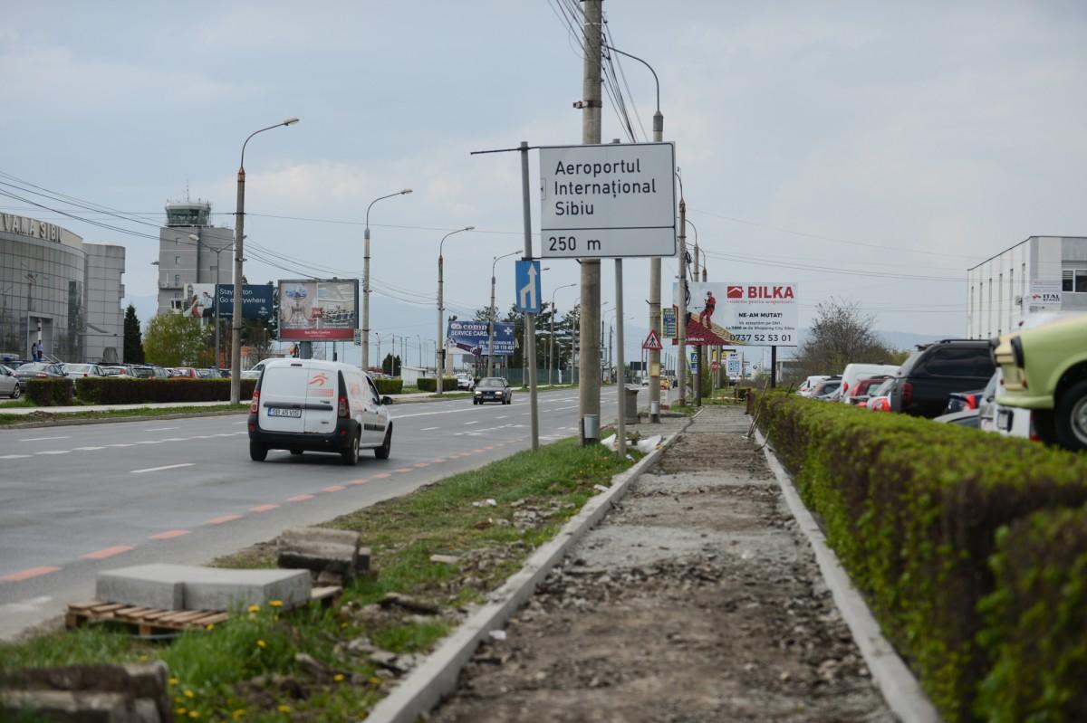 Continuă lucrările de reparații pe șoseaua Alba Iulia (CP)