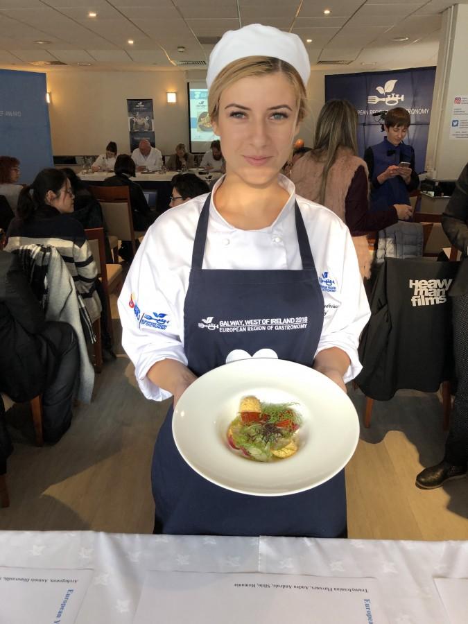 Andra Andriuc, reprezentanta Sibiului, a obținut locul 2 în finala European Young Chef Award