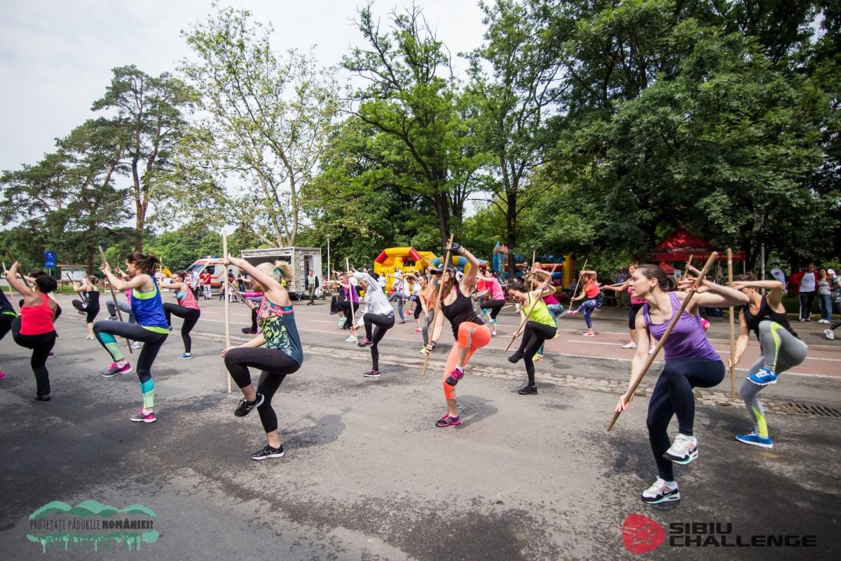20 de zone sportive amenajate în Parcul Sub Arini, la Sibiu Challenge