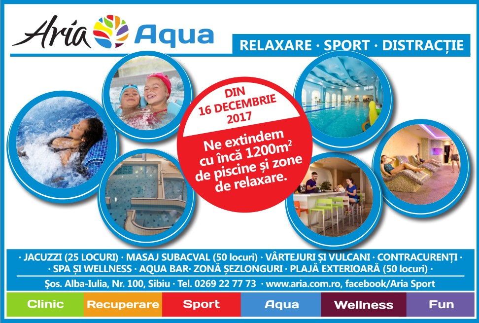 Aria se extinde. În 16 decembrie inaugurează noua piscină