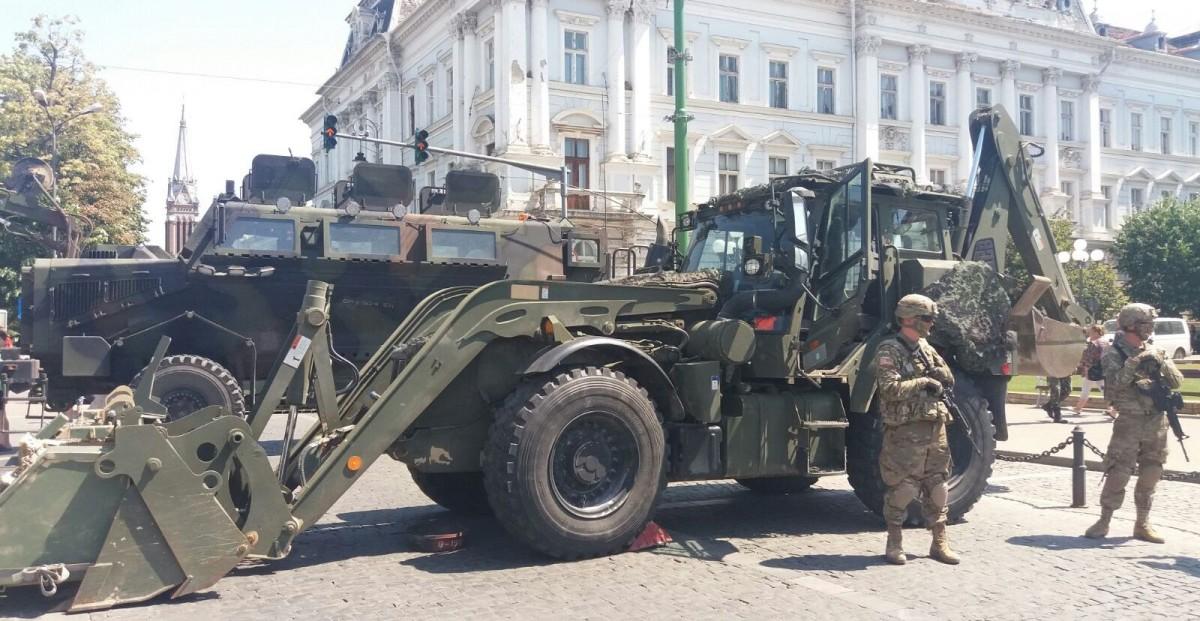 FOTO |Armata SUA își prezintă dotările militare, la Sibiu