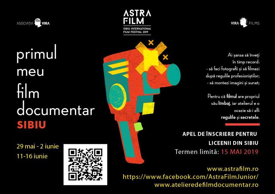 Astra Film a dat startul înscrierilor la Atelierul pentru liceeni Primul meu film documentar