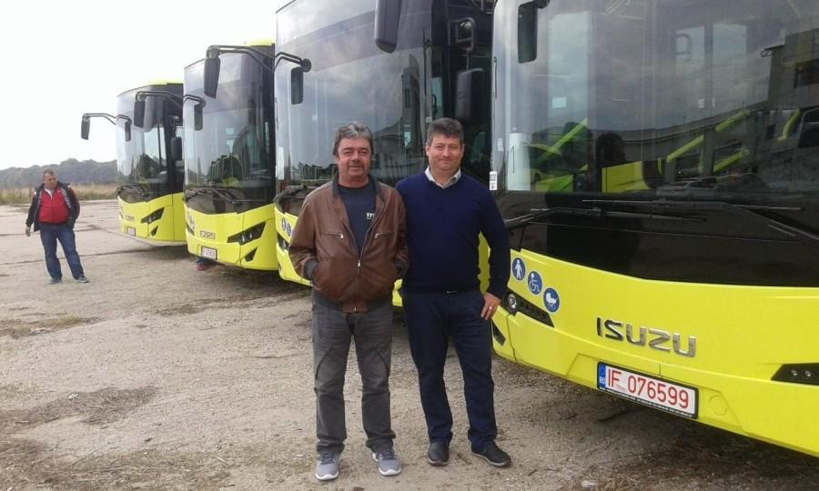 Primele patru autobuze noi au ajuns la Sibiu