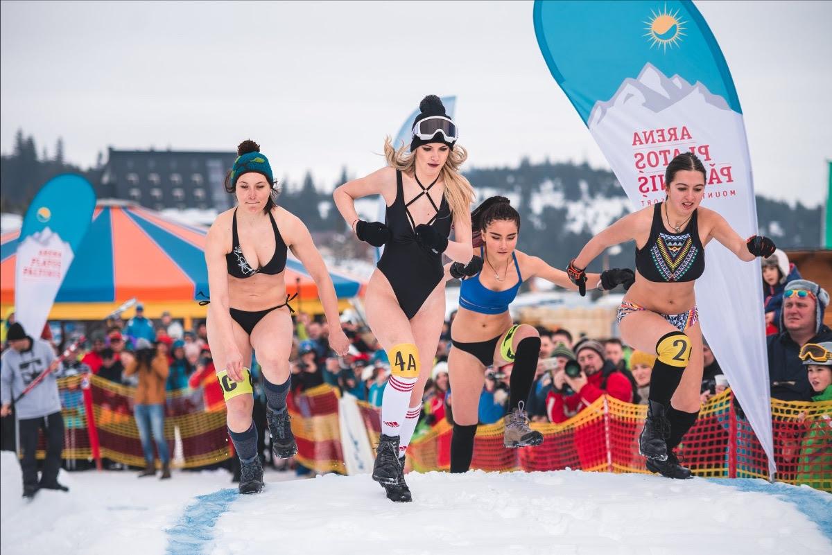 Câștigătoarea Bikini Race pleacă la ski în Franța