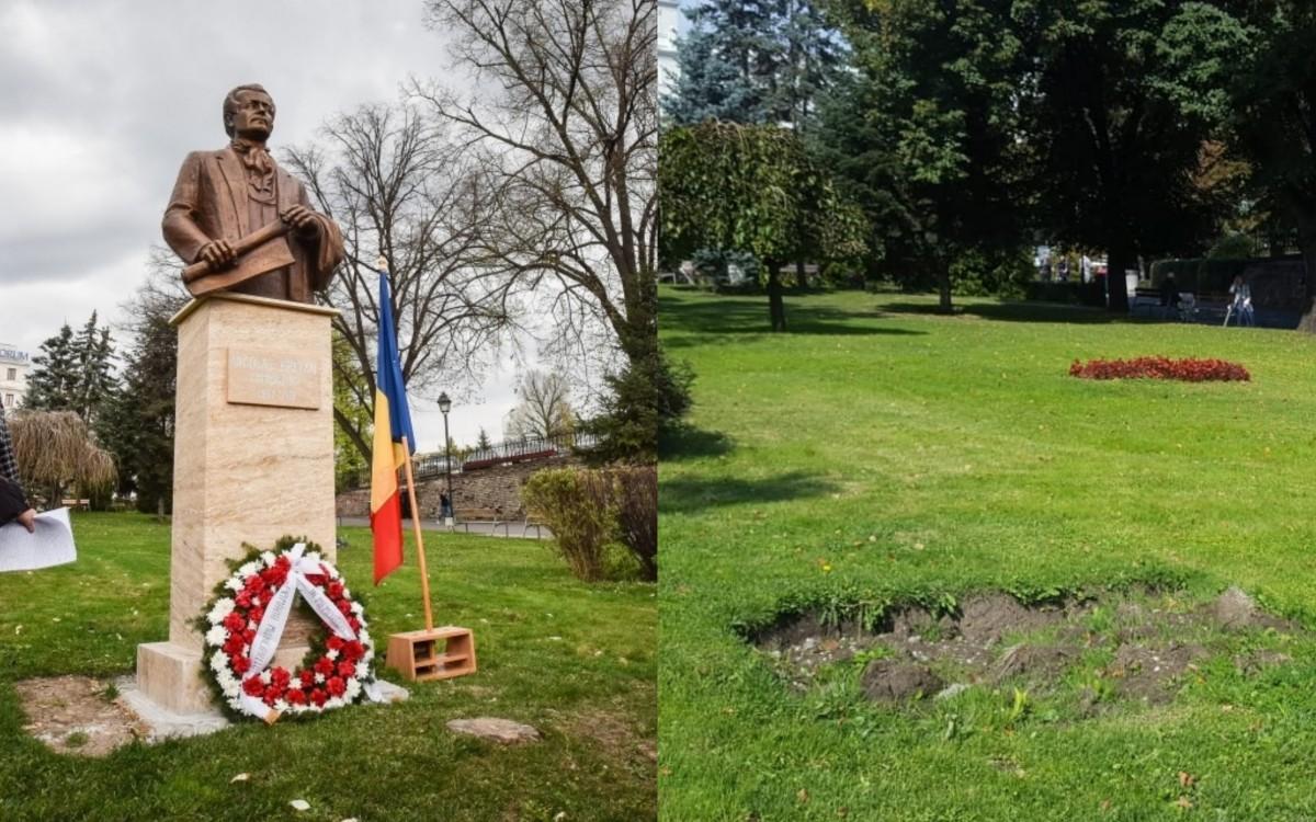 Bust fără aviz, inaugurat de viceprimarul Sibiului. A fost dat jos