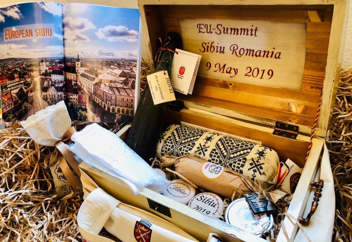 Sibiul s-a prezentat cu cadouri speciale în fața participanților la Summitul european