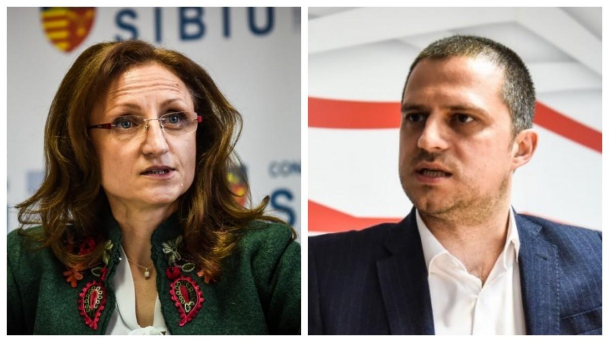 """Președinta Cîmpean către ministrul Trif, despre Sibiu și gastronomie: """"nu e nici o panglică de tăiat"""""""