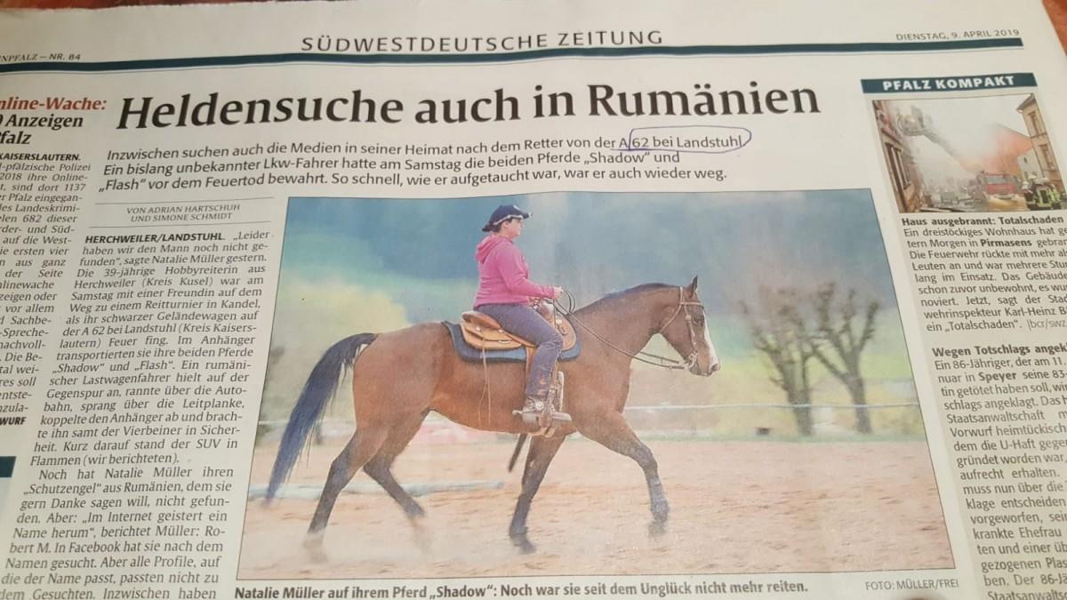 Germania: se caută un erou din România. Șofer de TIR care a dezamorsat un dezastru și a plecat