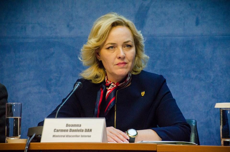 Ministrul de Interne, Carmen Dan,chemată la sediul DNA