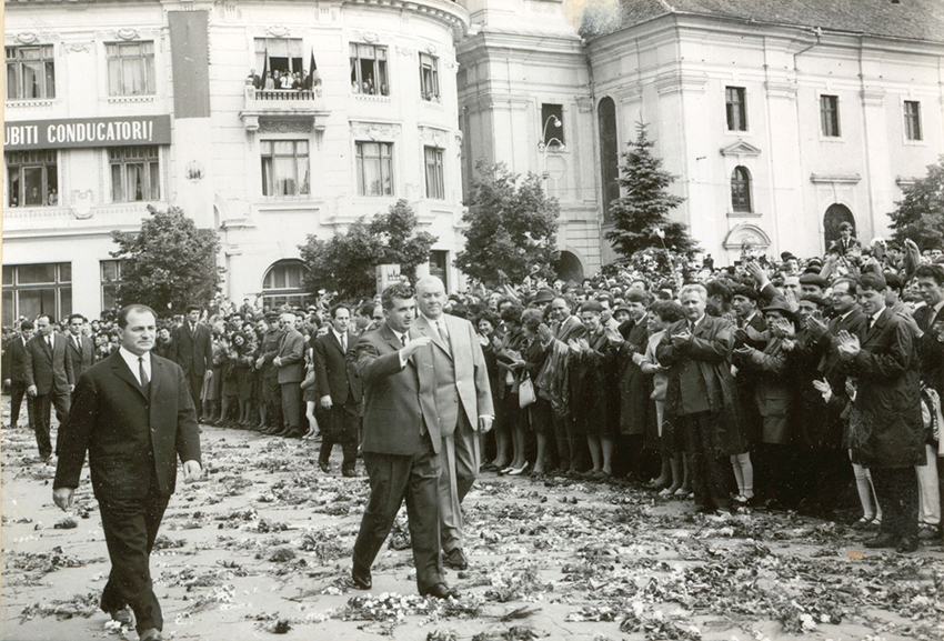 """Vizita lui Nicolae Ceauşescu la Sibiu. """"Ne propunem desfiinţarea pactului agresiv NATO"""""""