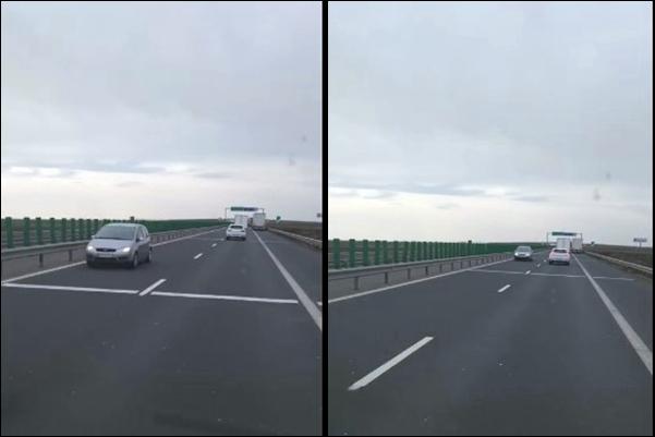 VIDEO Șofer filmat în timp ce conducea pe contrasens pe A1, direcția Arad -Nădlac