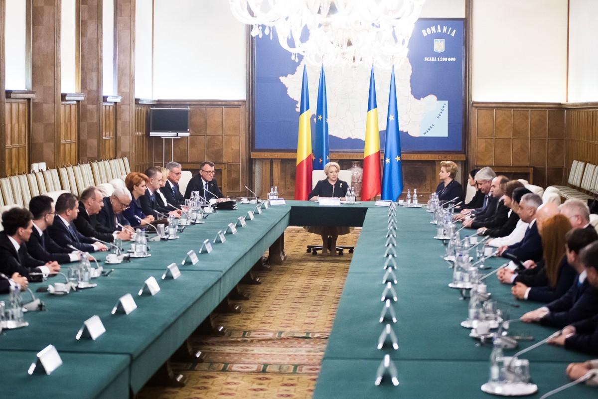 Prima şedinţă a Guvernului Dăncilă: Declaraţia 600, amânată până pe 15 aprilie
