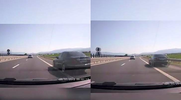VIDEO-Centura Sibiului: Depășire cu 150 km/h, pe banda de urgență