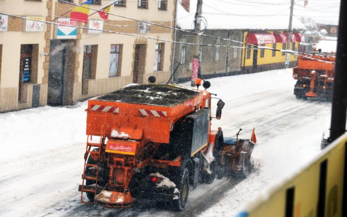 Cum s-a făcut deszăpezirea la Sibiu, în urmaninsorii de astăzi   foto video