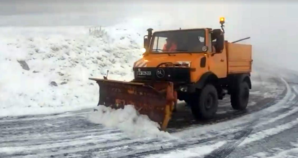 VIDEO - Temperaturi sub zero grade. A nins la marginea Sibiului