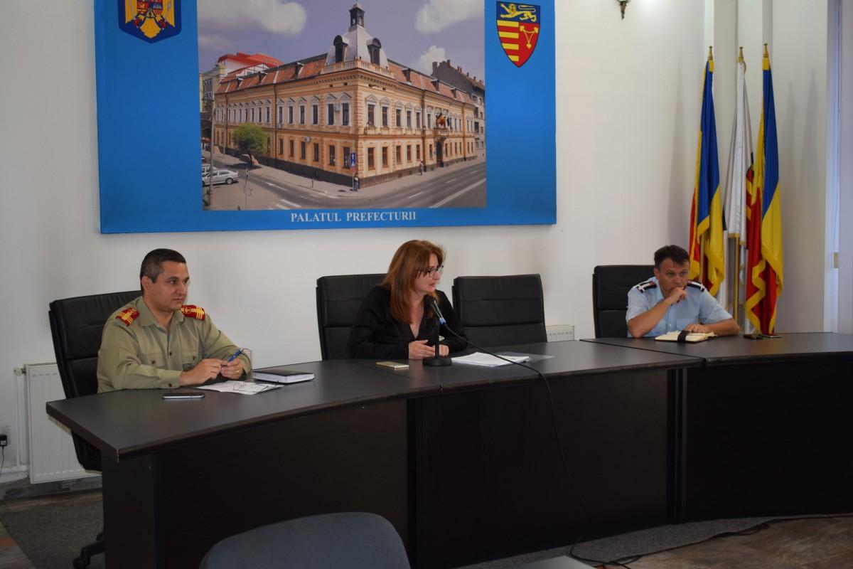 Ședință a Comitetului Județean pentru Situații de Urgență din cauza caniculei