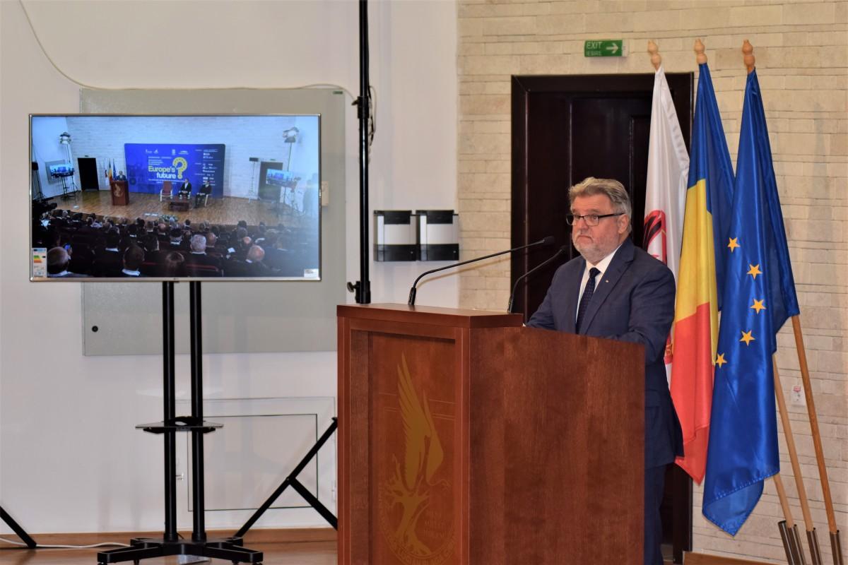"""""""Viitorul Europei"""": Rectorul ULBSa vorbit despre organizarea unei conferințe cu impact internațional la Sibiu"""