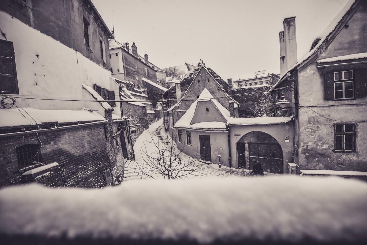 Iarna la Sibiu între anii 1931 și 2007