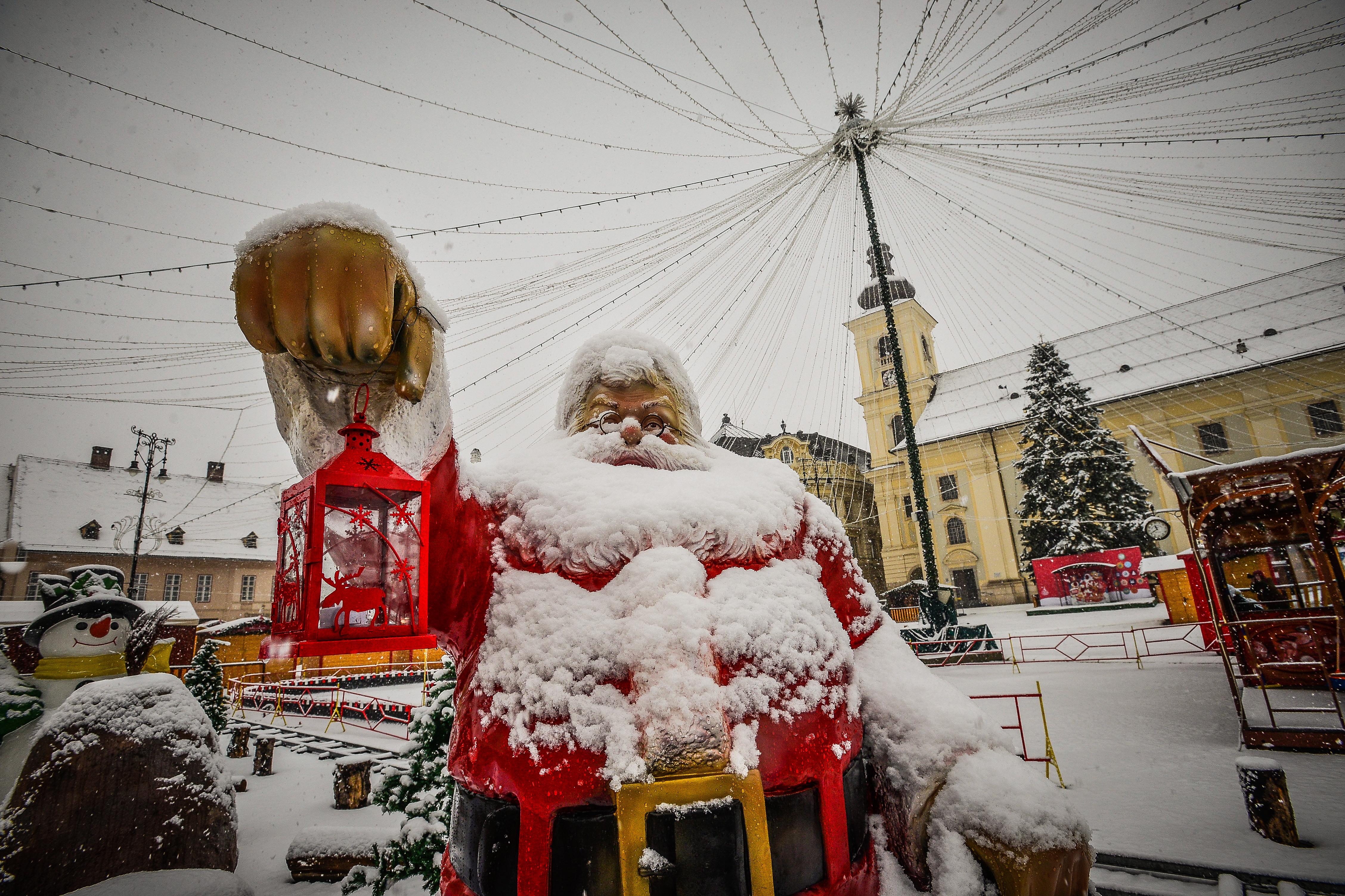 Let it snow! Meteo Sibiu: va ninge până miercuri