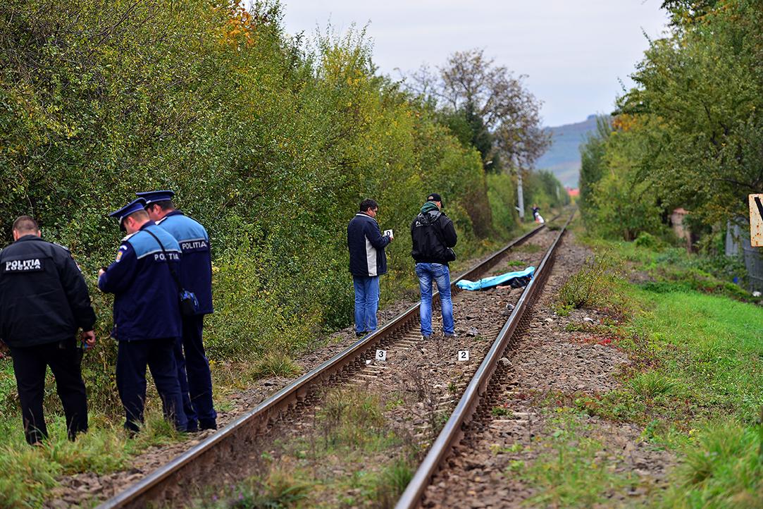 Bărbatdecapitat de tren, în apropiere de Mediaș