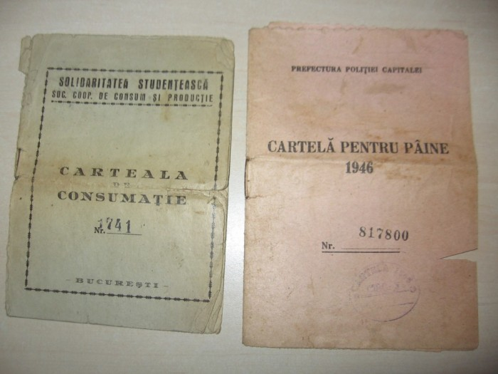 În 1947 se anunță bonurile de alimente. Ozi pâine, o zi mălai