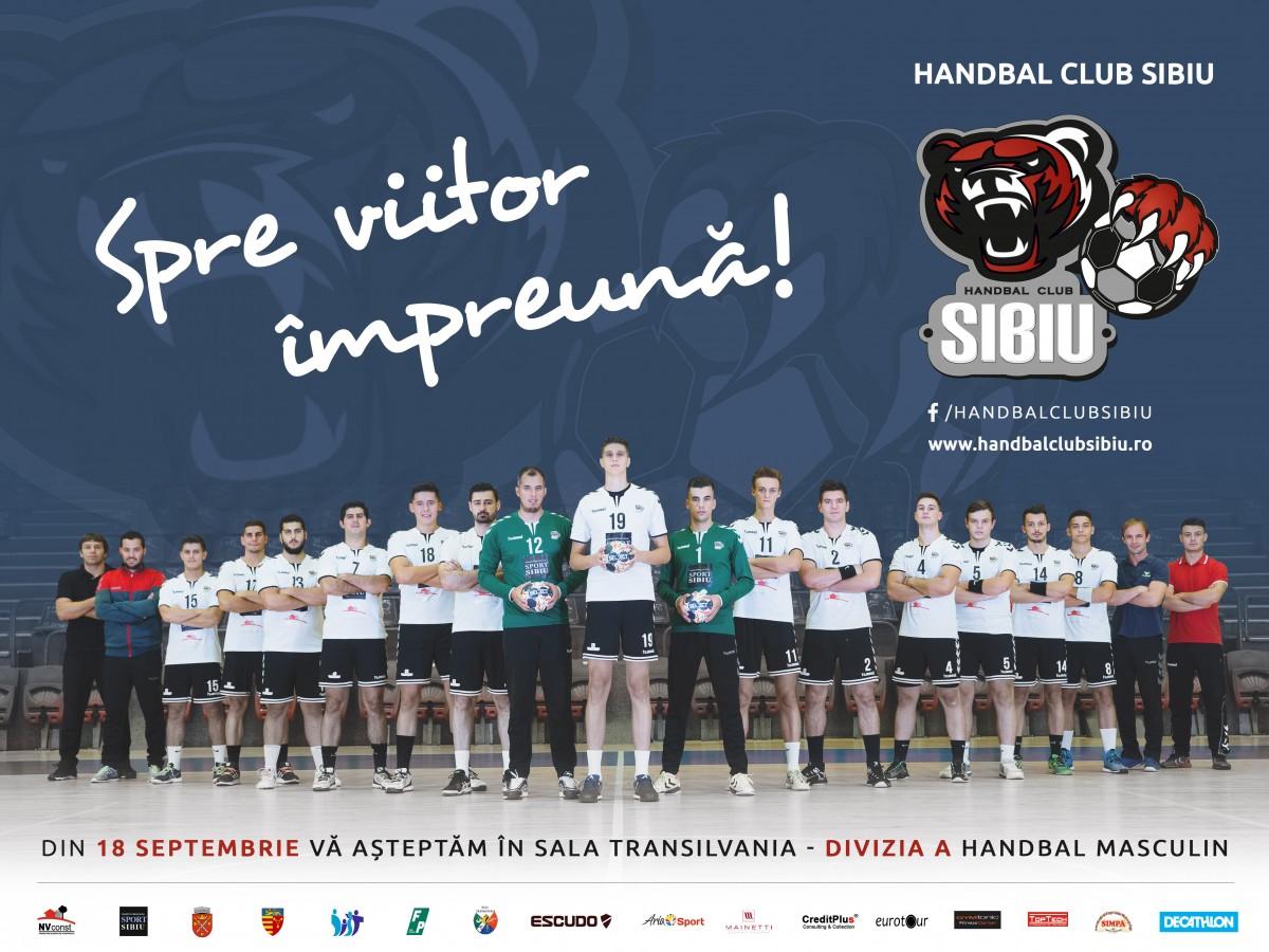 Handbal Club Sibiu vs. Universitatea Craiova se dispută azi, la Sala Transilvania