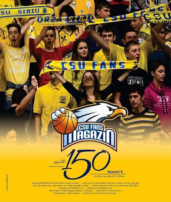 """Fanii """"galben-albaştri"""" sărbătoresc: ediţie specială a revistei CSU Fans. Surprize mari anunţate la CSU Sibiu – BC Mureş"""
