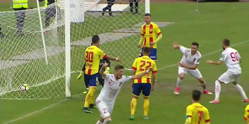 VIDEO FC Hermannstadt a bătut cu 2 la 0 pe Ripensia Timișoara și rămâne lider