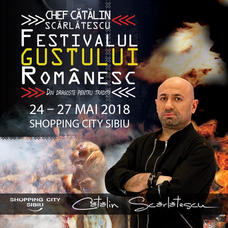 Chef Cătălin Scărlătescu vine la Festivalul Gustului Românesc de la Sibiu