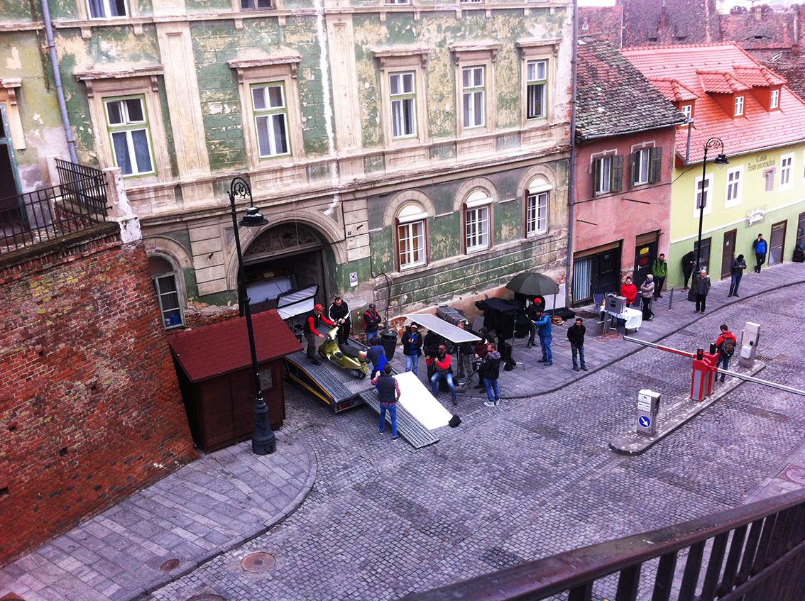 VIDEO - Vodafone filmează un nou spot în Sibiu