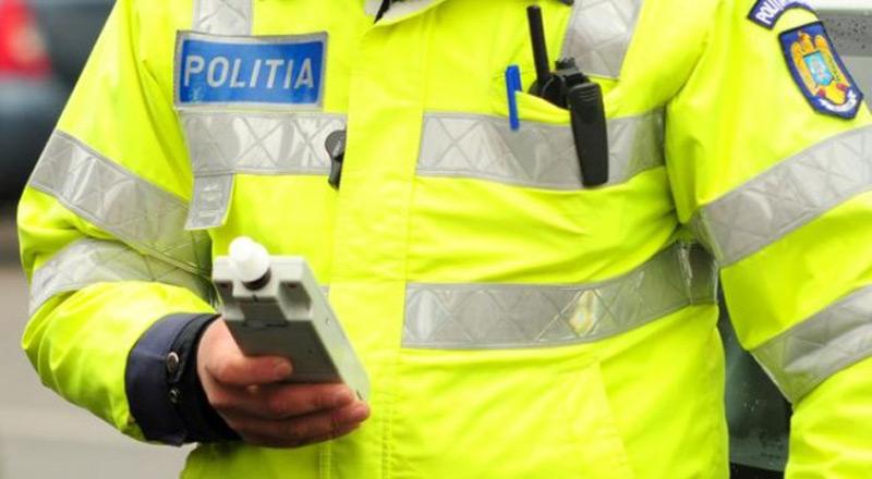 Șofer prins atât de beat azi-noapte în Sibiu, încât după ce i-au pus fiola polițiștii l-au dus la spital