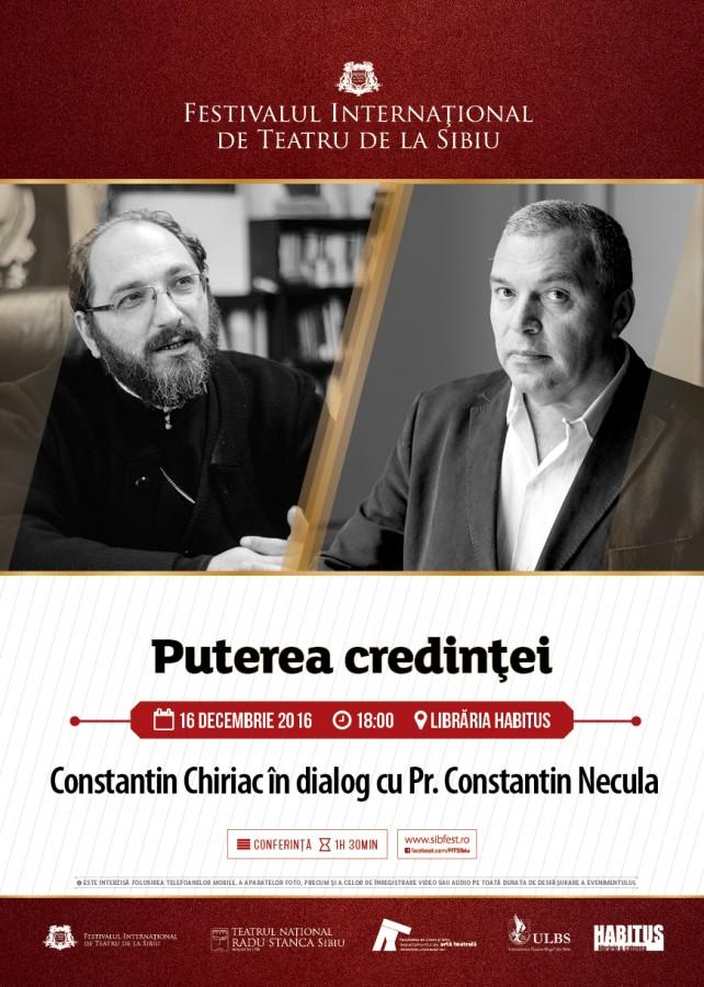 Întâlnire de gradul III. Constantin Chiriac în dialog cu părintele Constantin Necula