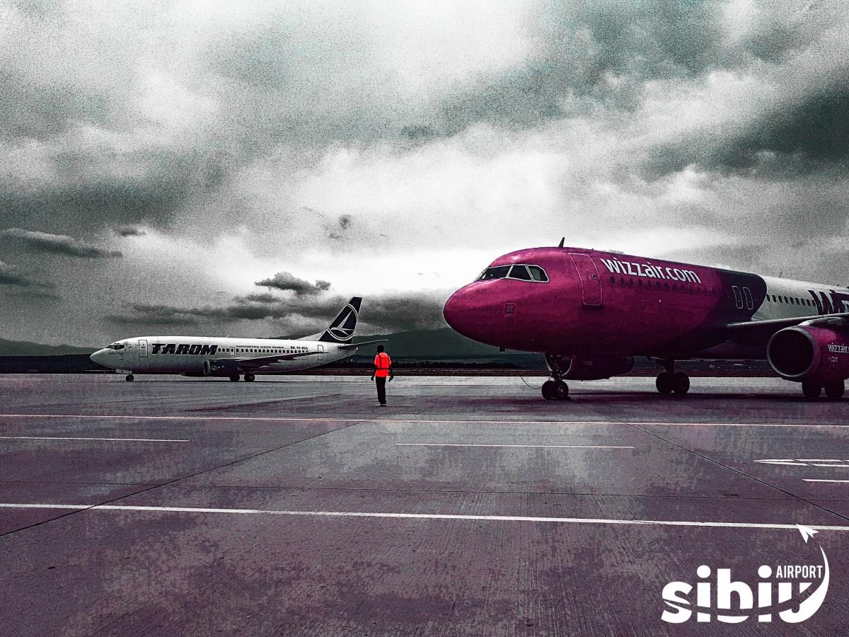 Week-end plin pe AeroportulSibiu: Trei zboruri în premieră