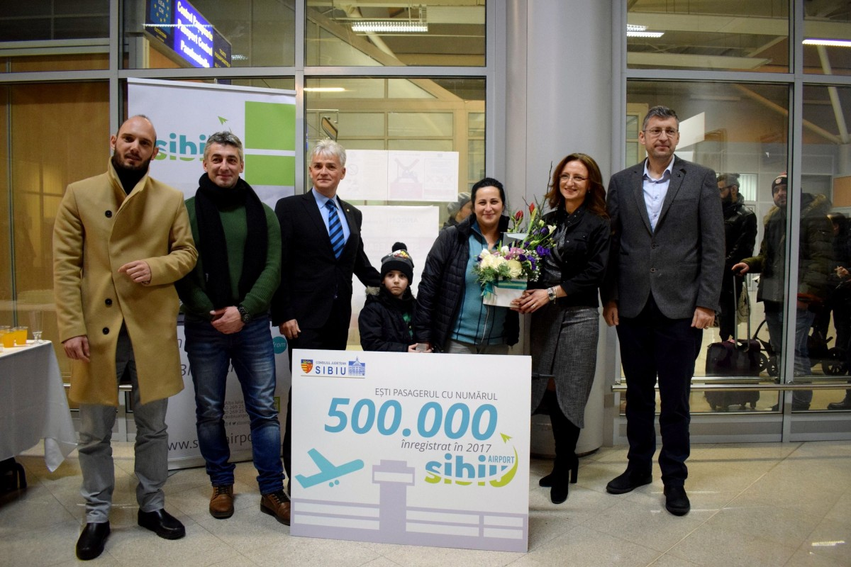 Pasagerul 500.000 a aterizat astăzi pe Aeroportul Sibiu