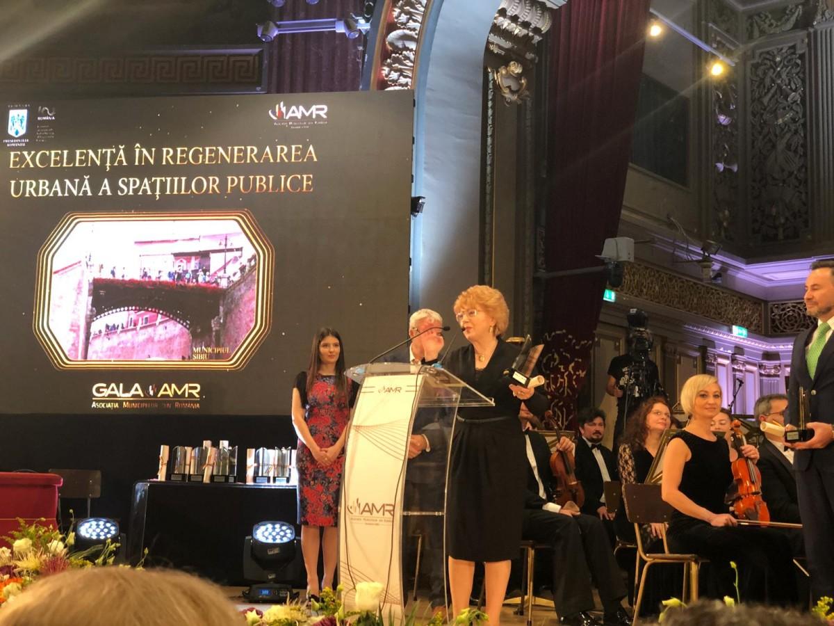 Sibiul, premiat din nou la Gala Asociației Municipiilor din România (CP)