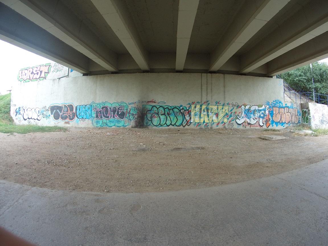 Graffiti nu e artă! Nu murdăriți Sibiul cu mâzgălituri! (CP)
