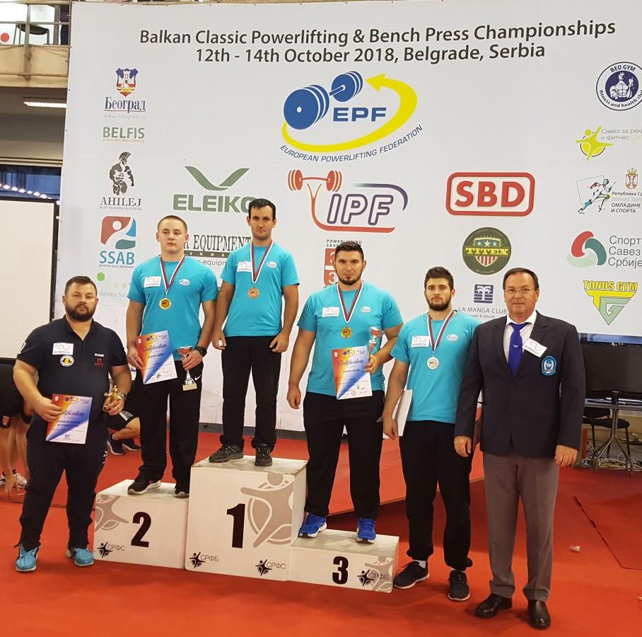 Medalii de aur pentru sportivii sibieni la Cupa Balcanică de powerlifting