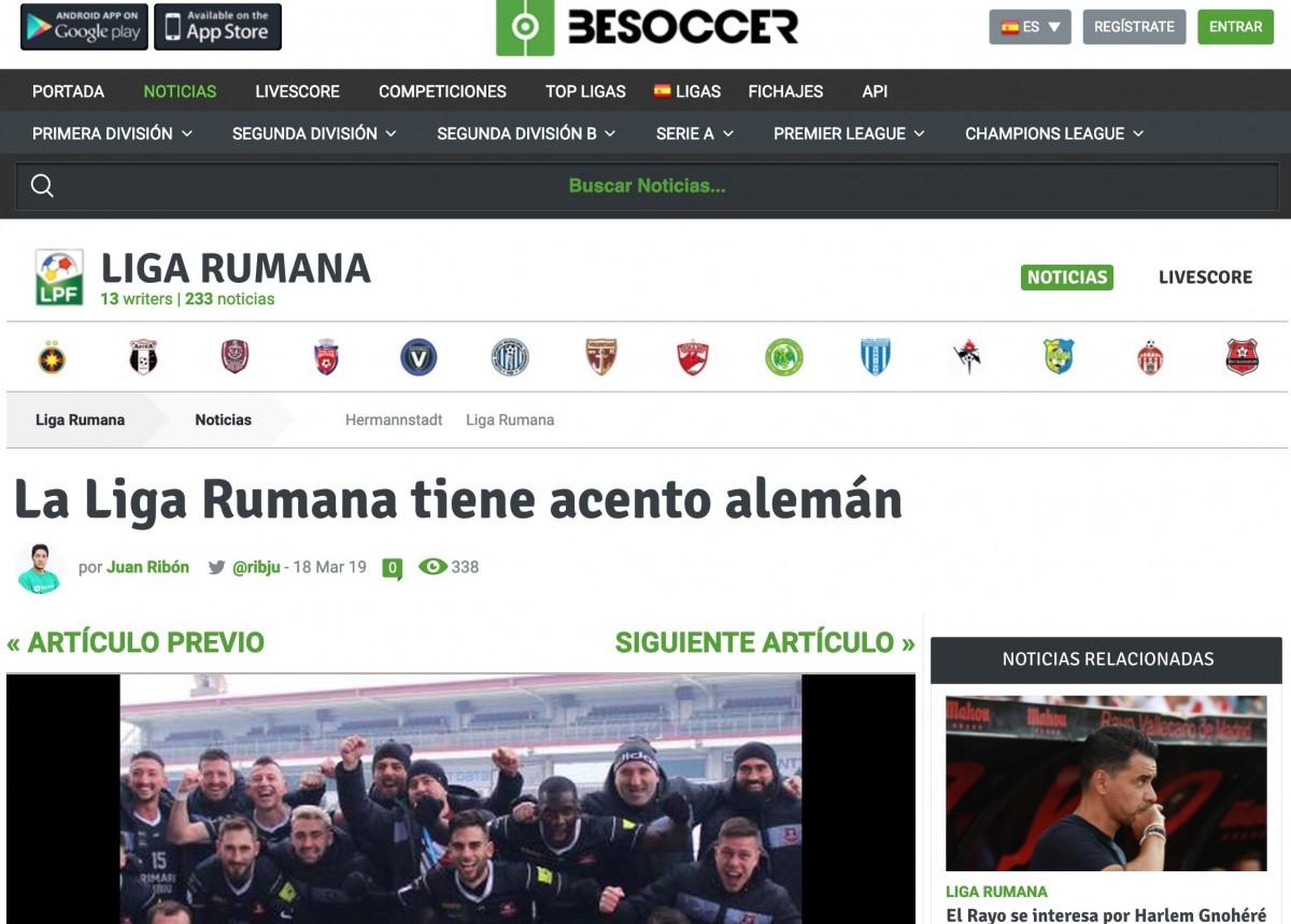 FC Hermannstadt, curiozitate pentru spanioli. Ce caută în Liga 1 un club cu nume german?