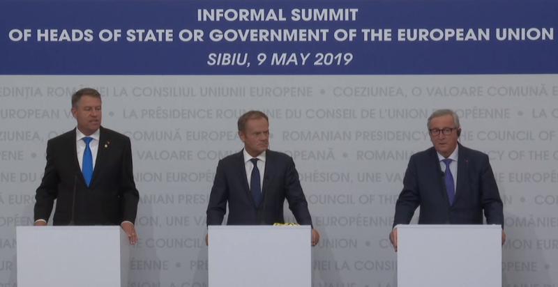 Donald Tusk laudă din nou Sibiul într-un mesaj pe twitter