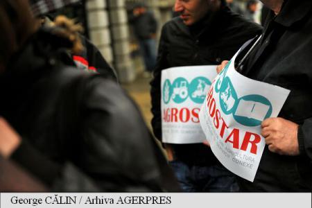 Sindicaliștii din agricultură au început protestul în fața Palatului Cotroceni