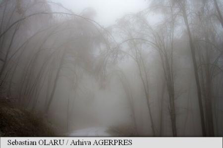 Cod Galben nowcasting de ceață în șapte județe, în următoarele ore