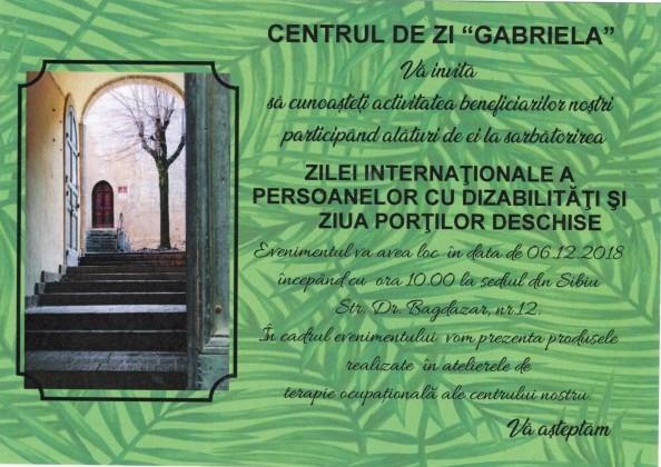 Ziua Internațională a Persoanelor cu Dizabilități, celebrată cu porți deschise, la Sibiu