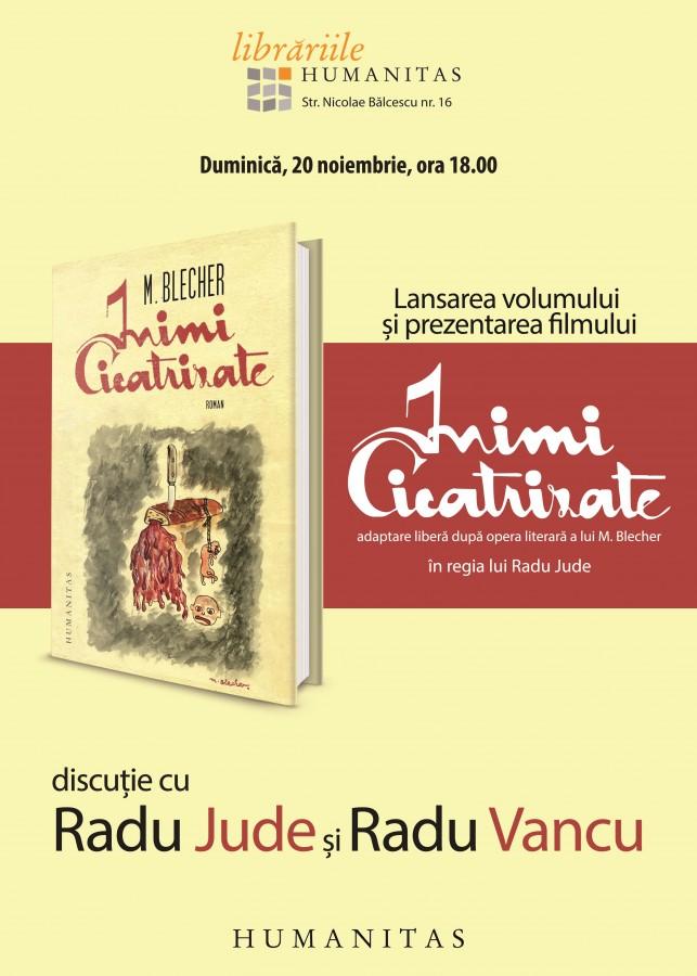 """Despre """"Inimi cicatrizate"""" cu Radu Jude la Librăria Humanitas"""