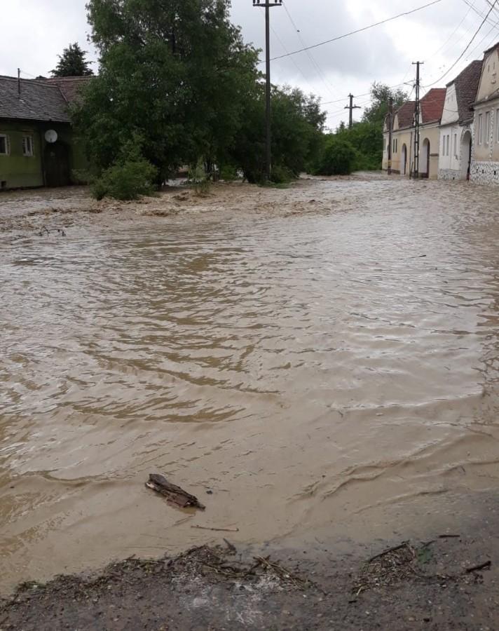 Cod galben de inundații în județul Sibiu